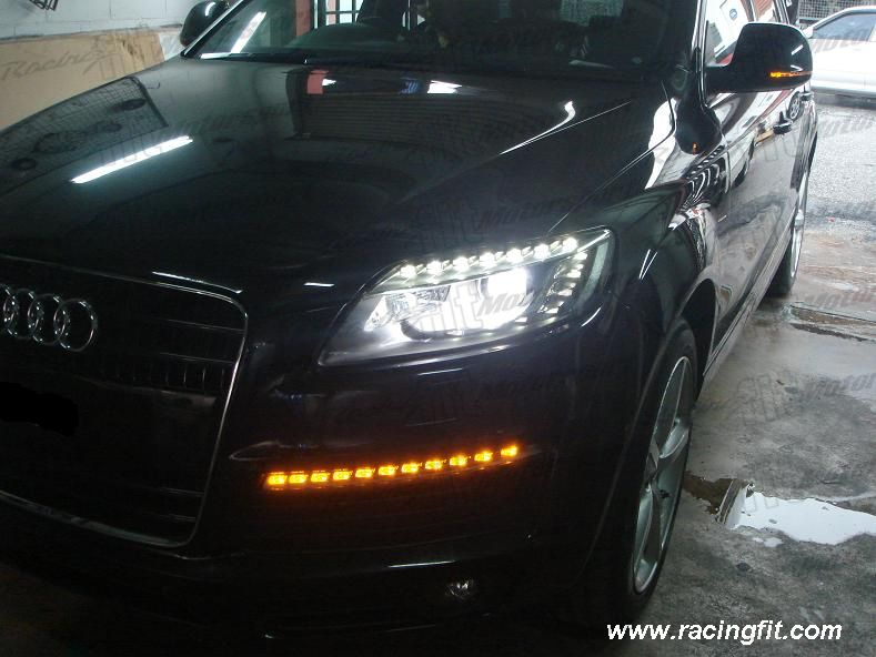 Audi Q7 Facelift Headlamp with DRL