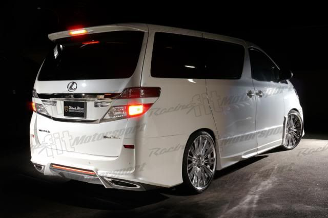 Vellfire 2012 Black Bison Bodykit